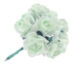 Flor de Papel P Verde Claro RSP-018 - 12 unidades