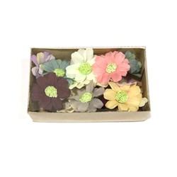 Flor de Tecido 4,5cm Delicatten Cores Variadas - caixa com 15 unidades