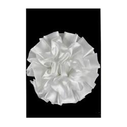 Flor Decorativa de Cetim FLC-001 Branca - com 1 unidade
