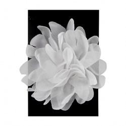 Flor Decorativa de Voal FLV-002 Branca - com 1 unidade