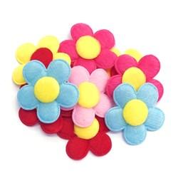 Flor em Feltro Importado 5cm - 10 unidades - cores variadas