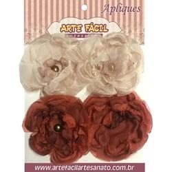 Flor em Tecido FL-007 Arte Fácil - 4 unidades
