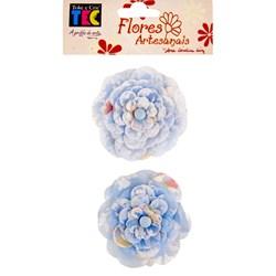 Flores Artesanais Azul Grande 9385 (FLOR10) - com 2 unidades
