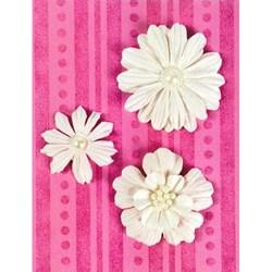 Flores Artesanais Branca GISELA - 3 unidades