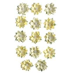 Flores Artesanais Daphne Algodão Doce - Amarelo 17762 Toke e Crie