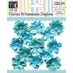 Flores Artesanais Daphne Algodão Doce - Azul 17763 Toke e Crie