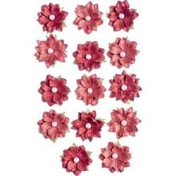 Flores Artesanais Daphne Algodão Doce - Vermelho 17767 Toke e Crie