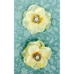 Flores Artesanais Decorativas SAMANTHA - 2 unidades
