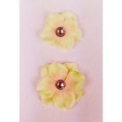 Flores Artesanais Decorativas VIOLETE - 2 unidades