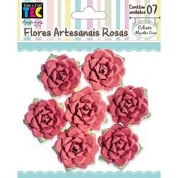 Flores Artesanais Rosas Algodão Doce - Vermelho 17773 Toke e Crie