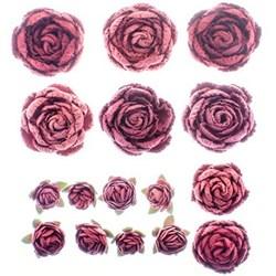 Flores Artesanais Rosas Mistas Toke e Crie Rouge 16960 com 16 unidades