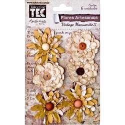 Flores Artesanais Vintage Manuscrito II Nude 14881 TOKE E CRIE