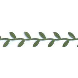 Folha de Cetim em Ramo 2,5cm - rolo com 10 metros