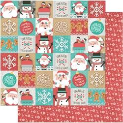 Folha Dupla Face  Scrapboock Natal  SDN-100 MiniTags  de  Natal
