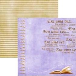 Folha Dupla Face Scrapbooking  11656(SDF211) Mini Livros Metalizada