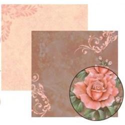 Folha Dupla Face Scrapbooking  11917(SDF223) Rosas e Botões