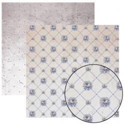 Folha Dupla Face Scrapbooking 11925(SDF231) Rosas Brancas Mini