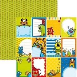 Folha Dupla Face Scrapbooking  11993 (SDF243) Monstros Cards