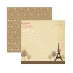 Folha Dupla Face Scrapbooking  13773 (SDF331) Paris Romance
