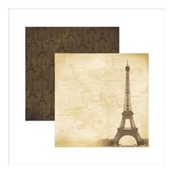 Folha Dupla Face Scrapbooking  14618 (SDF391) Destinos Paris