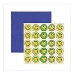 Folha Dupla Face Scrapbooking  14798(SDF412) Brasil Medalhão Camiseta
