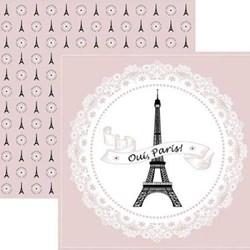 Folha Dupla Face Scrapbooking  17890 (SDF635) Paris Guirlanda