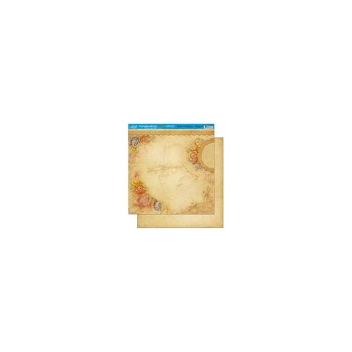 Folha Dupla Face Scrapbooking Lili Negrão SD1-002 Shabby Chic-Flor Branca