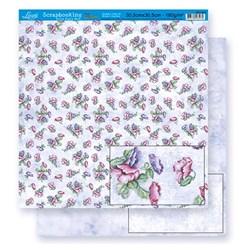Folha Dupla Face Scrapbooking Lili Negrão SD1-020A Flores