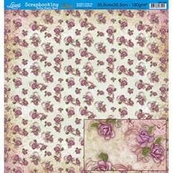 Folha Dupla Face Scrapbooking Lili Negrão SD1-025 Estampa de Flores e Listras