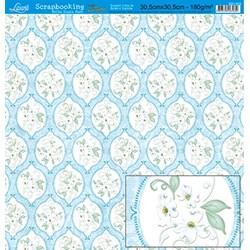 Folha Dupla Face Scrapbooking Lili Negrão SD1-033 Flores