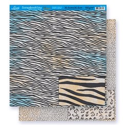 Folha Dupla Face Scrapbooking Lili Negrão SD1-034 Estampa Animal Print