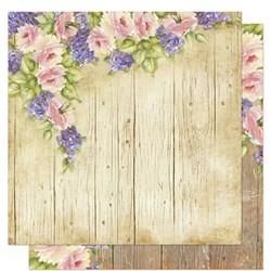 Folha Dupla Face Scrapbooking Lili Negrão SD1-062 Rosas e Flores Roxas