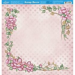 Folha Dupla Face Scrapbooking Lili Negrão SD1-072 Arranjos de Flores