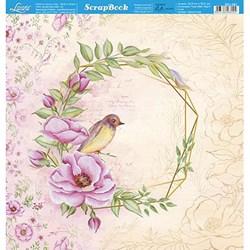 Folha Dupla Face Scrapbooking Lili Negrão SD1-081 Rosa Silvestre