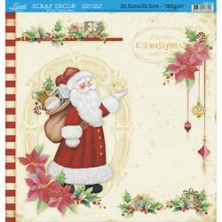 *Folha Dupla Face Scrapbooking Natal SDN-036 Merry Christmas