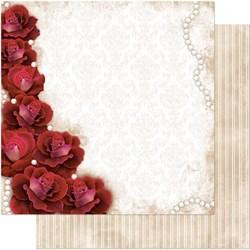 Folha Dupla Face Scrapbooking SD-003 Rosas Vermelha