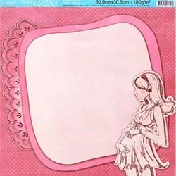 Folha Dupla Face Scrapbooking SD-009 Maternidade Pink I