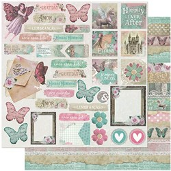 Folha Dupla Face Scrapbooking SD-1047 Tags Fada