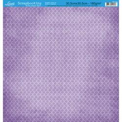 Folha Dupla Face Scrapbooking SD-129 Floral Lilás