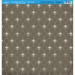 Folha Dupla Face Scrapbooking SD-155 Flor de Lis