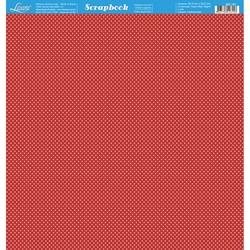 Folha Dupla Face Scrapbooking SD-191 Poá Vermelho e Branco