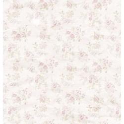Folha Dupla Face Scrapbooking SD-460 Dama Vestido Rosa Shabby Chic