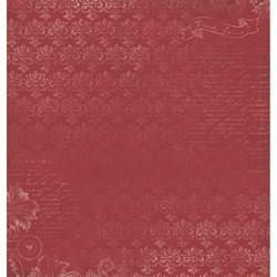 Folha Dupla Face Scrapbooking SD-542 Gaiola Dourada com Rosas Vermelha