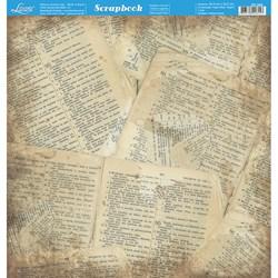Folha Dupla Face Scrapbooking SD-566 Página Bíblia / Madeira