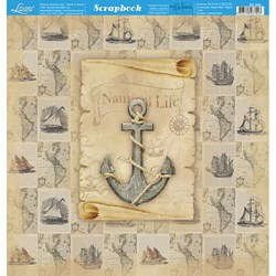 Folha Dupla Face Scrapbooking SD-590 Vintage Nautica Life