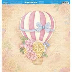 Folha Dupla Face Scrapbooking SD-634 Balão Com Flores
