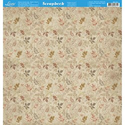 Folha Dupla Face Scrapbooking SD-721 Vintage estampa Orgânica de folha