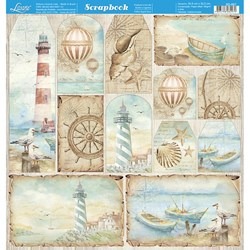 Folha dupla face Scrapbooking SD-887 Naval Tags