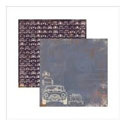 Folha Dupla Face Scrapbooking (SDF424) Masculino Carros