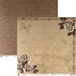 Folha Dupla Face Scrapbooking (SDF426) Rosas Nude Vintage C/ Borboleta